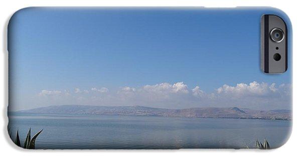 Christ Walking On Water iPhone Cases - The Sea of Galilee at Capernaum iPhone Case by Karen J Jones