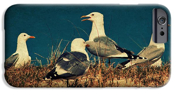 North Sea iPhone Cases - The Seagulls iPhone Case by Angela Doelling AD DESIGN Photo and PhotoArt
