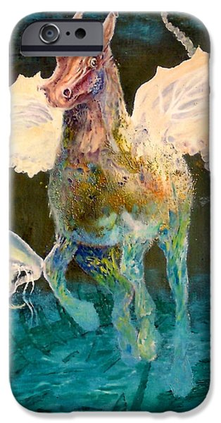The Horse iPhone Cases - The Seahorse iPhone Case by Henryk Gorecki