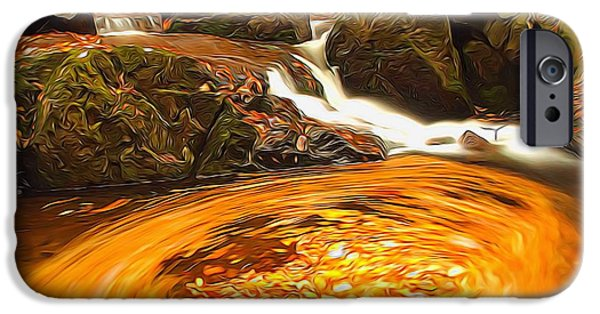 Tree Roots iPhone Cases - The Season Of Autumn iPhone Case by Dan Sproul