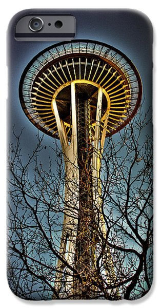 David Patterson iPhone Cases - The Seattle Space Needle IV iPhone Case by David Patterson