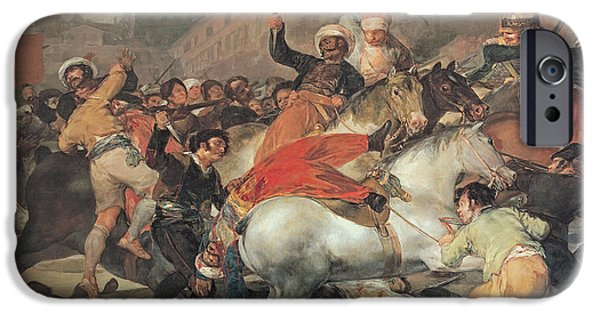 War Of Independence iPhone Cases - The Second Of May, 1808. The Riot Against The Mameluke Mercenaries, 1814 Oil On Canvas iPhone Case by Francisco Jose de Goya y Lucientes