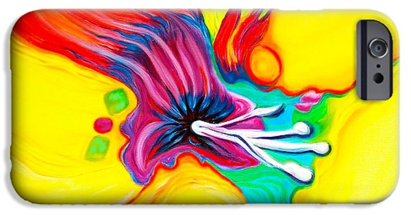 Recently Sold -  - Abstract Expressionist iPhone Cases - The Secret Life of Lily 2 iPhone Case by Susi Franco