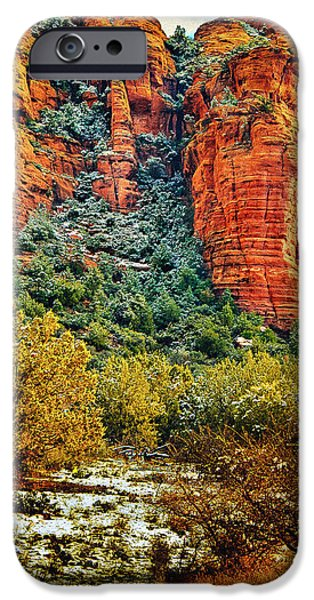 Oak Creek iPhone Cases - The Secret Mountain Wilderness in Sedona Back Country iPhone Case by  Bob and Nadine Johnston