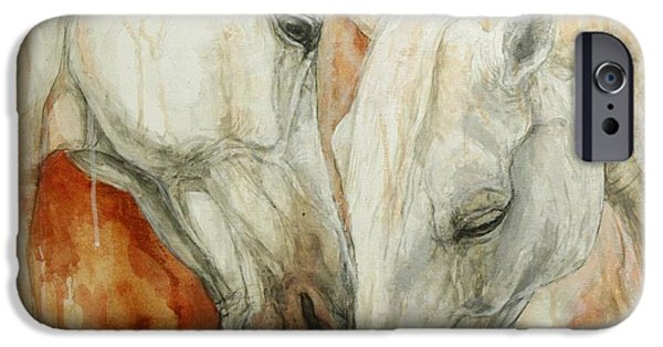 Horse Artist iPhone Cases - The Secret iPhone Case by Silvana Gabudean