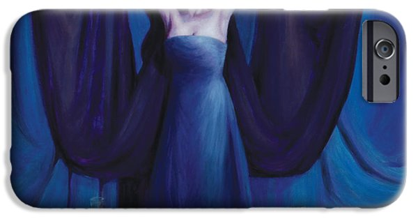 Spiritual Portrait Of Woman iPhone Cases - The Seer iPhone Case by Shelley  Irish