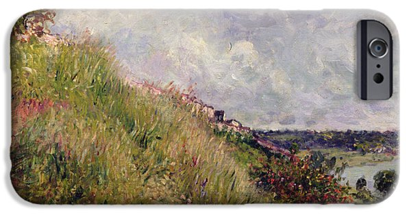 Impressionist Photographs iPhone Cases - The Seine, View Of The Slopes Of By, 1881 Oil On Canvas iPhone Case by Alfred Sisley