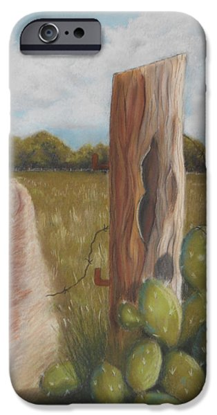 Old Barns Pastels iPhone Cases - The Sentry iPhone Case by Charlyn LeJeune