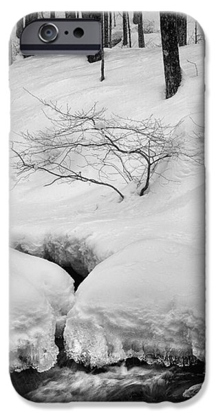New England Snow Scene iPhone Cases - The Serenity Of WInter iPhone Case by Bill  Wakeley