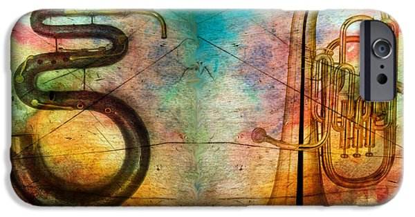 Recently Sold -  - Serpent iPhone Cases - THE SERPENT and EUPHONIUM -  Featured in Spectacular Artworks iPhone Case by EricaMaxine  Price