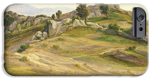 Italian Landscapes Paintings iPhone Cases - The Serpentara at Olevano iPhone Case by Joachim Faber