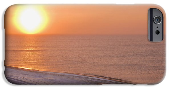 Reflections Of Sun In Water iPhone Cases - The Setting Sun Shining Through iPhone Case by Kevin Smith