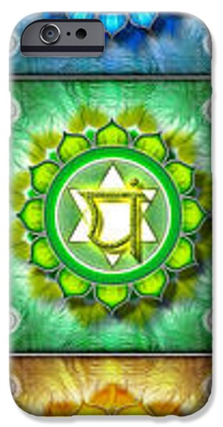 Kundalini iPhone Cases - The seven Chakras II - Series 2010 iPhone Case by Dirk Czarnota
