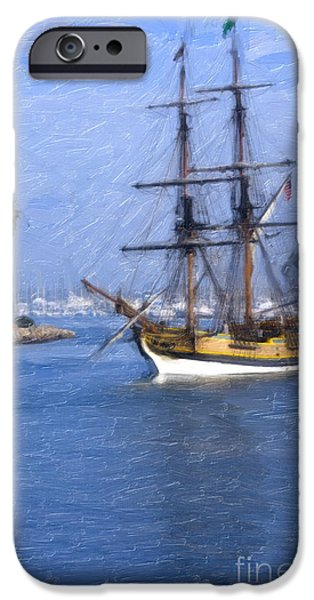 Pirate Ship iPhone Cases - The Seven Seas iPhone Case by David Millenheft