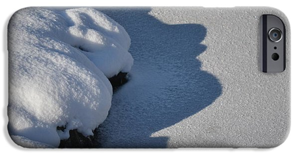 Snow iPhone Cases - The Shadow Knows iPhone Case by Susan Russo