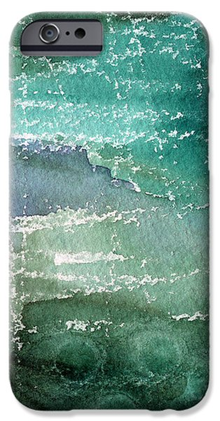 Sea Mixed Media iPhone Cases - The Shallow End iPhone Case by Linda Woods