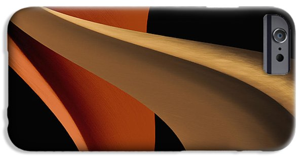 Modern Abstract iPhone Cases - The Shape of Design iPhone Case by Kellice Swaggerty
