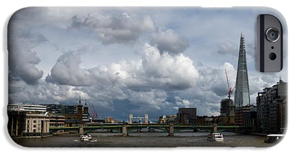Piano iPhone Cases - The Shard and the Thames at Southwark iPhone Case by Gary Eason