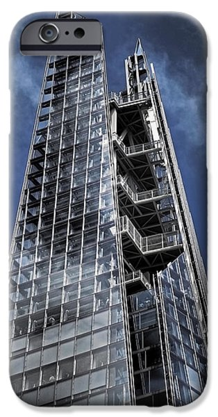 Architecture iPhone Cases - The Shards of The Shard iPhone Case by Rona Black