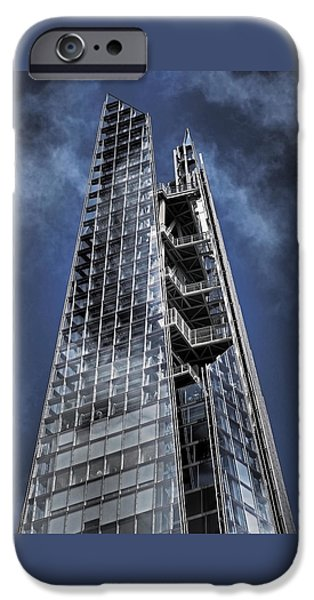 Piano iPhone Cases - The Shards of The Shard iPhone Case by Rona Black