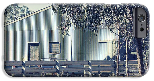 Shed iPhone Cases - The shearing shed iPhone Case by Linda Lees