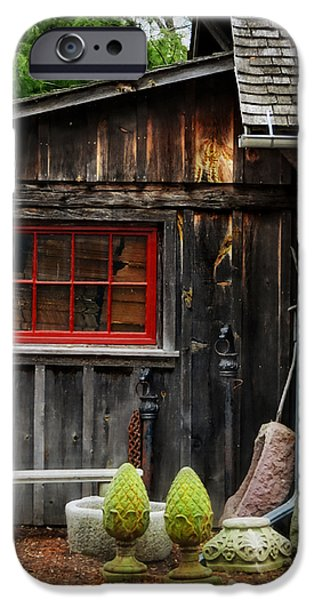 The Shed at Monches Farm iPhone Case by Mary Machare