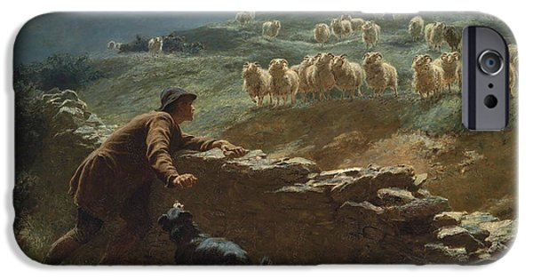 Briton iPhone Cases - The sheepstealer iPhone Case by Briton Riviere