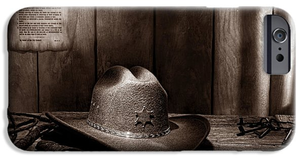 Law Enforcement iPhone Cases - The Sheriff Office iPhone Case by American West Legend By Olivier Le Queinec