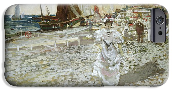 Coast Paintings iPhone Cases - The Shingle Beach iPhone Case by James Kay