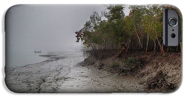 Mangrove Forest iPhone Cases - The Shining Mangrove iPhone Case by Kingshuk Mondal