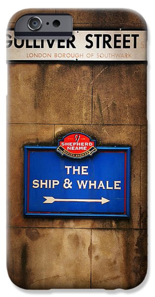 Gullivers iPhone Cases - The Ship and Whale iPhone Case by Mark Rogan