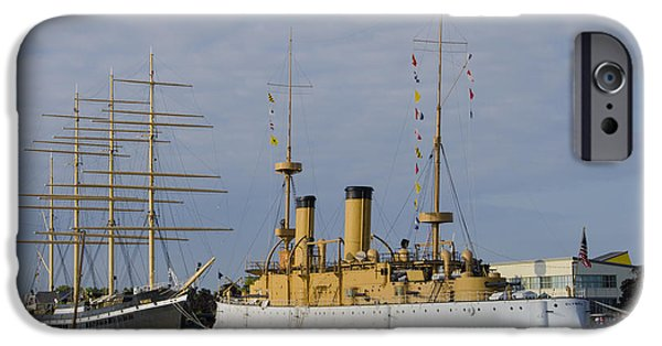 Tall Ship iPhone Cases - The Ships at Penns Landing iPhone Case by Bill Cannon