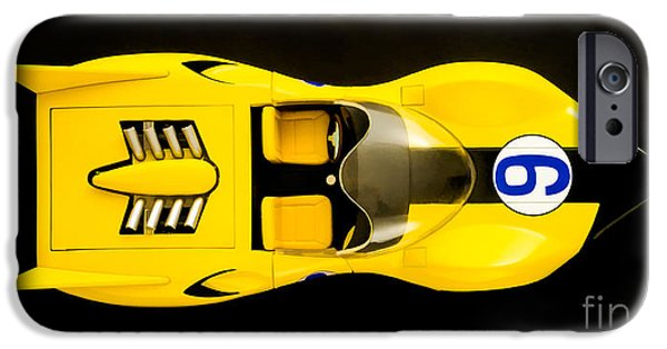 Speed iPhone Cases - The Shooting Star Racer Xs Number 9 Race Car iPhone Case by Edward Fielding