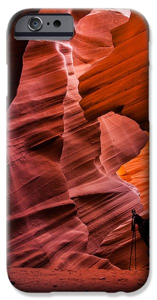 Antelope Canyon iPhone Cases - The Shot iPhone Case by Gregory Ballos
