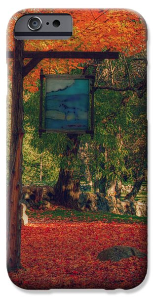 Concord Ma. iPhone Cases - The Sign Of Fall Colors iPhone Case by Jeff Folger