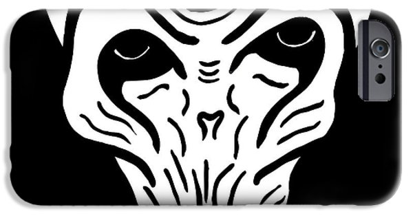 Dr. Who iPhone Cases - The Silence 2 iPhone Case by Jera Sky