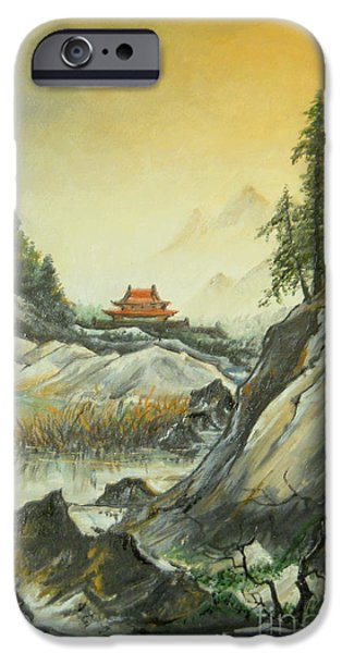 Autumn iPhone Cases - The silence in the mountains iPhone Case by Sorin Apostolescu