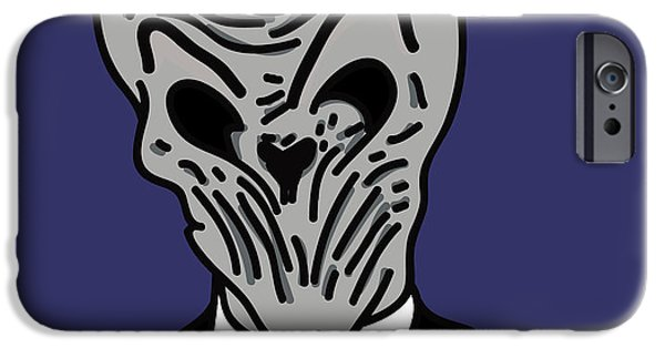 Dr. Who iPhone Cases - The Silence iPhone Case by Jera Sky