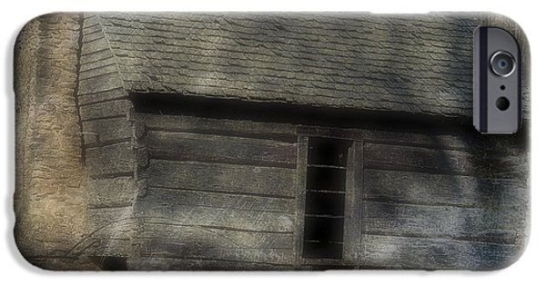 Cabin Window iPhone Cases - The Simple Life iPhone Case by Ken Johnson