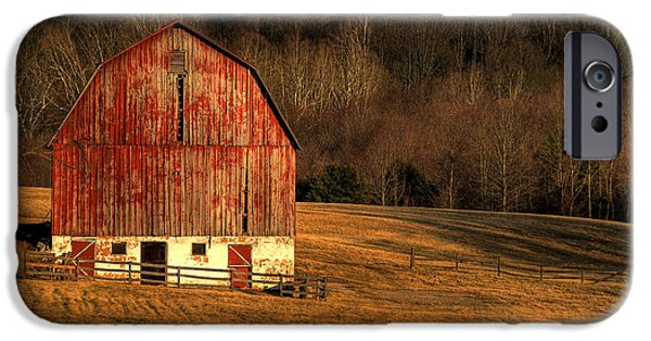 Old Barns iPhone Cases - The Simple Life iPhone Case by Lois Bryan