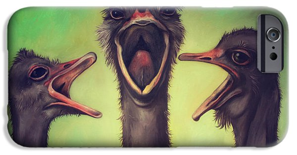 Emu iPhone Cases - The Singers iPhone Case by Leah Saulnier The Painting Maniac