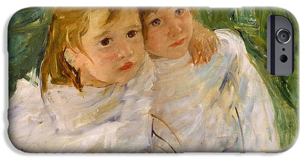 Mary iPhone Cases - The Sisters iPhone Case by Mary Cassatt