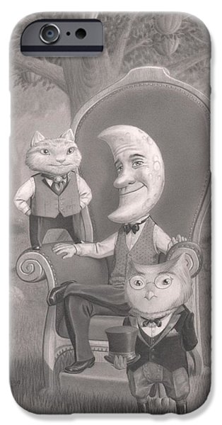 Creepy Drawings iPhone Cases - The Sitting iPhone Case by Richard Moore