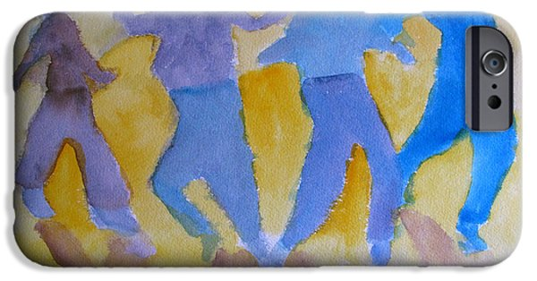 Loose Style Paintings iPhone Cases - The Skaters iPhone Case by Sandy McIntire