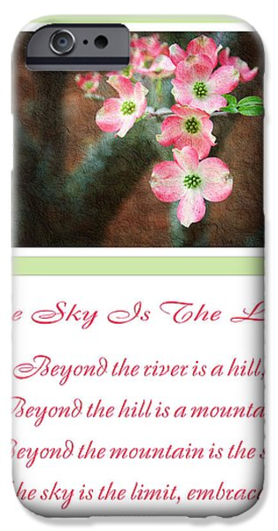 The Hills Mixed Media iPhone Cases - The Sky Is The Limit V 12 iPhone Case by Andee Design