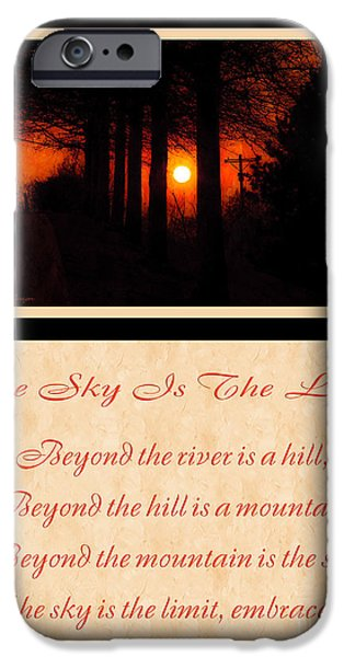 The Trees Mixed Media iPhone Cases - The Sky Is The Limit V 2 iPhone Case by Andee Design