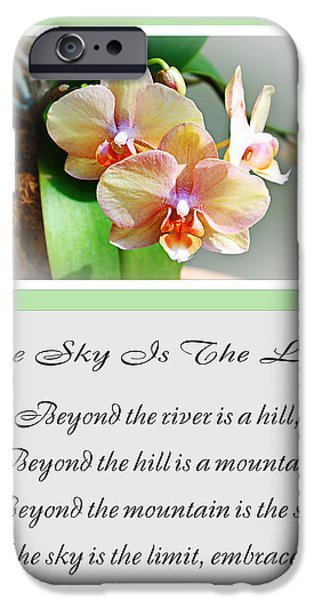 The Hills Mixed Media iPhone Cases - The Sky Is The Limit V 4 iPhone Case by Andee Design