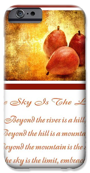 The Hills Mixed Media iPhone Cases - The Sky Is The Limit V 8 iPhone Case by Andee Design