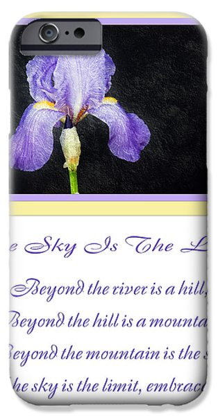 The Hills Mixed Media iPhone Cases - The Sky Is The Limit V 9 iPhone Case by Andee Design