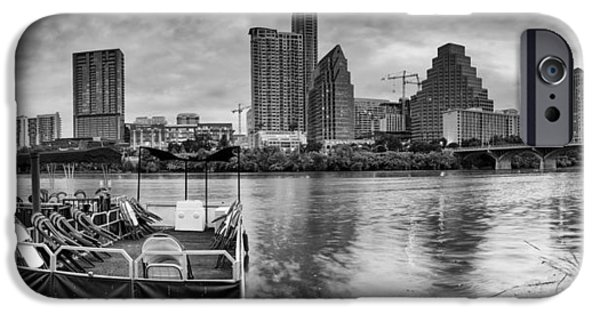 First Lady iPhone Cases - The Sky is will be crying Austin Texas Skyline iPhone Case by Silvio Ligutti